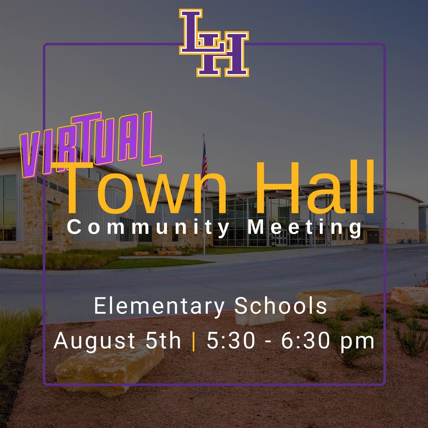 Virtual Community Town Hall - Elementary Campuses