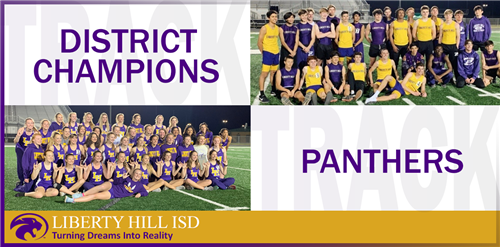 Varsity Girls and Boys Track Teams are District Champions!!!