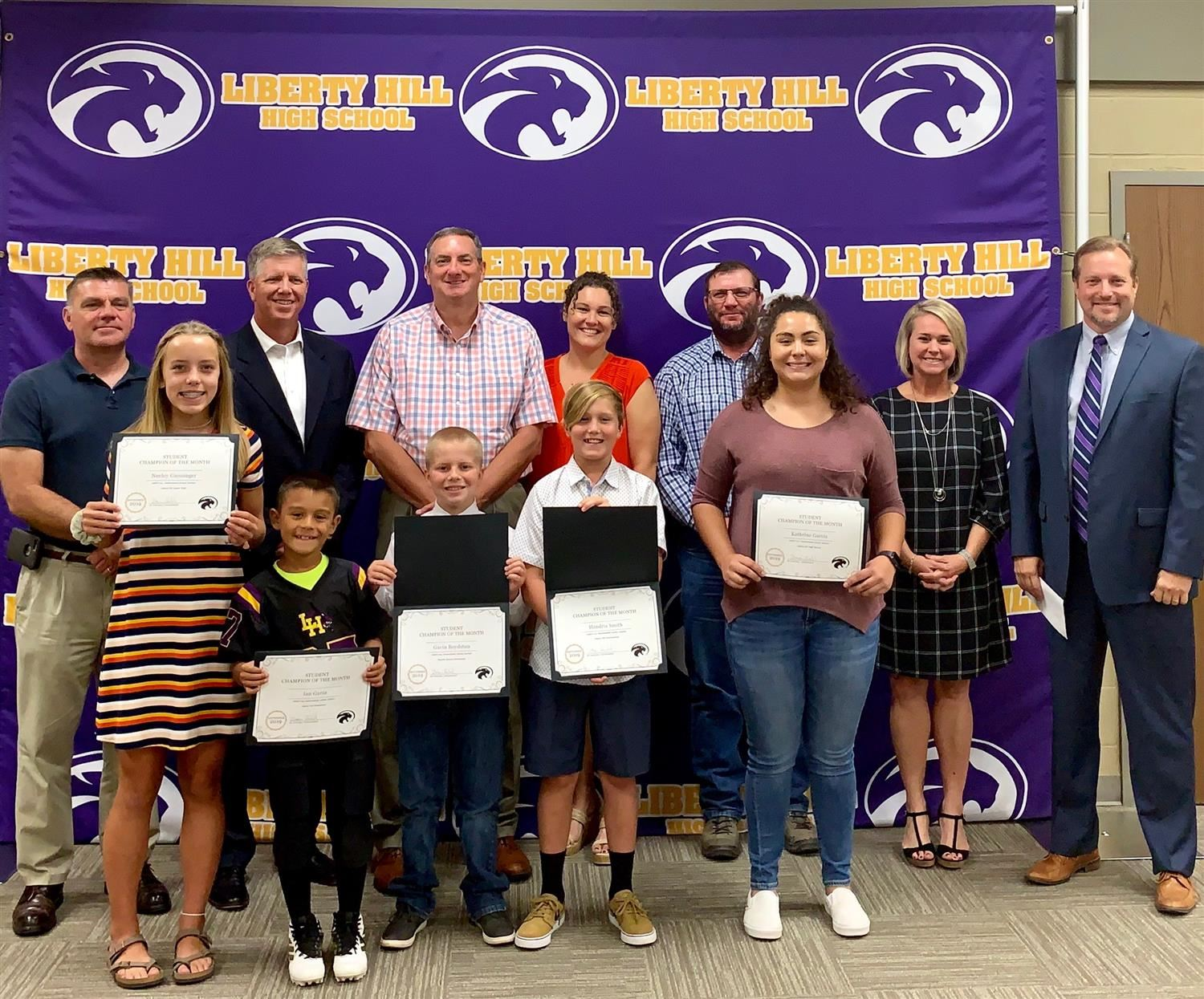 September Student Champions of the Month