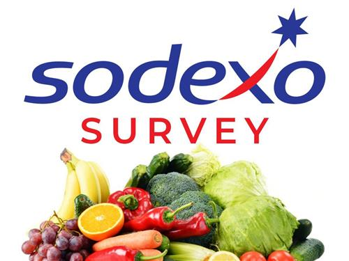 Sodexo brand with various fruits and vegetables