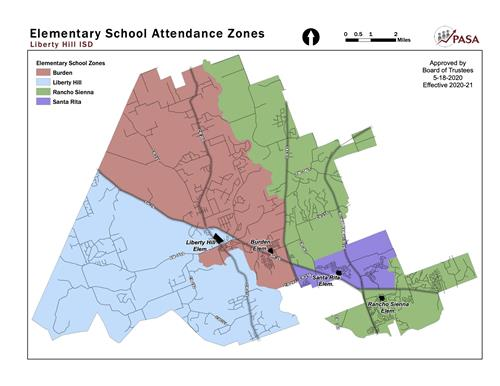 Map of Elementary school zones